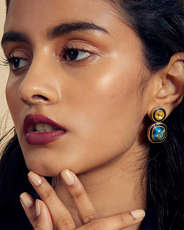 Isharya Glitter-on-the-Go Duo Stone Libra Earrings 1