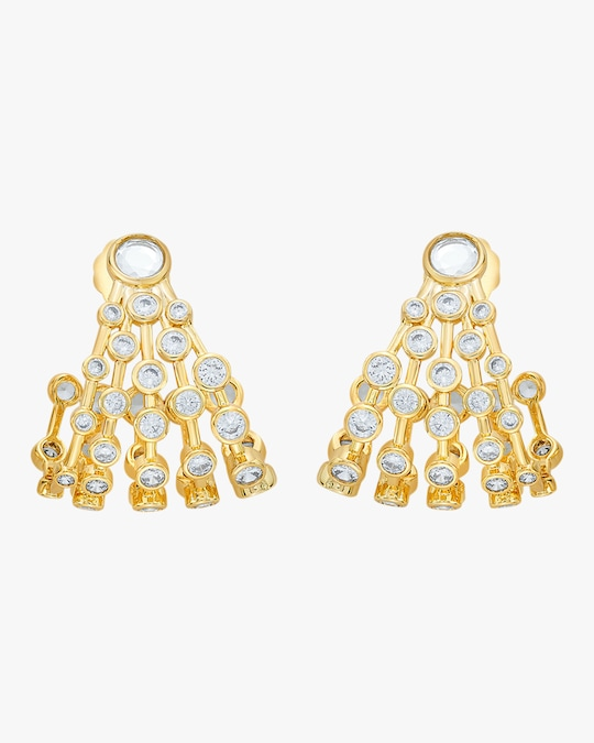 Isharya Modern Maharani Curved Earrings 0