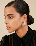 Isharya Modern Maharani Curved Earrings 1