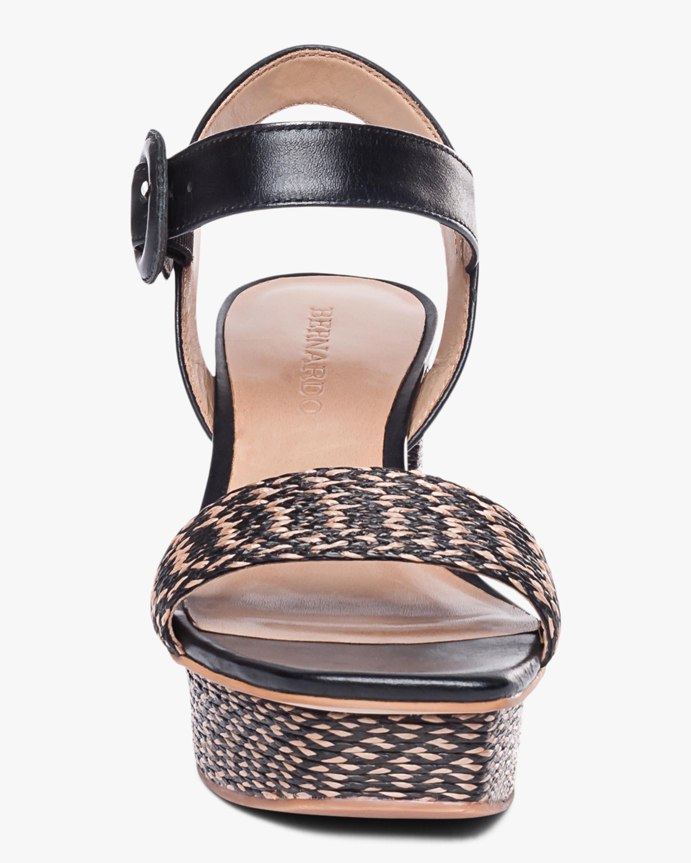 Bernardo Reagan Raffia Platform Sandal 5