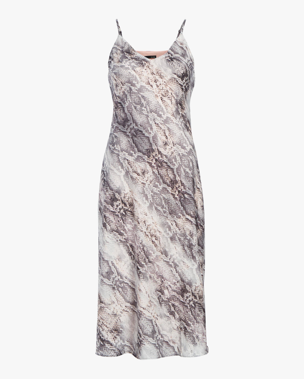 Krisa Cami Bias Midi Slip Dress 0