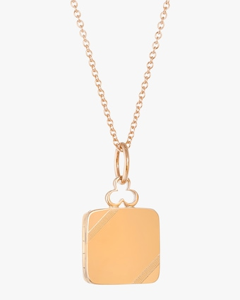 On an Angle Locket Necklace