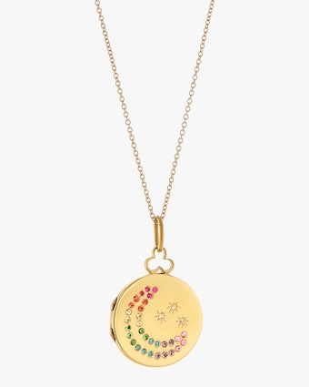 Moon & Stars Rainbow Necklace