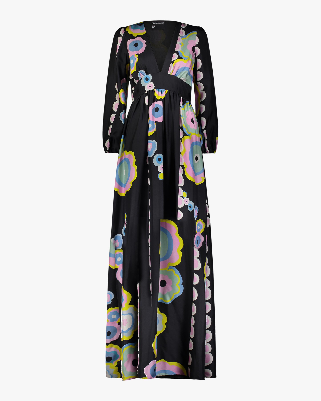 Cynthia Rowley Genevieve V Neck Maxi Dress 0