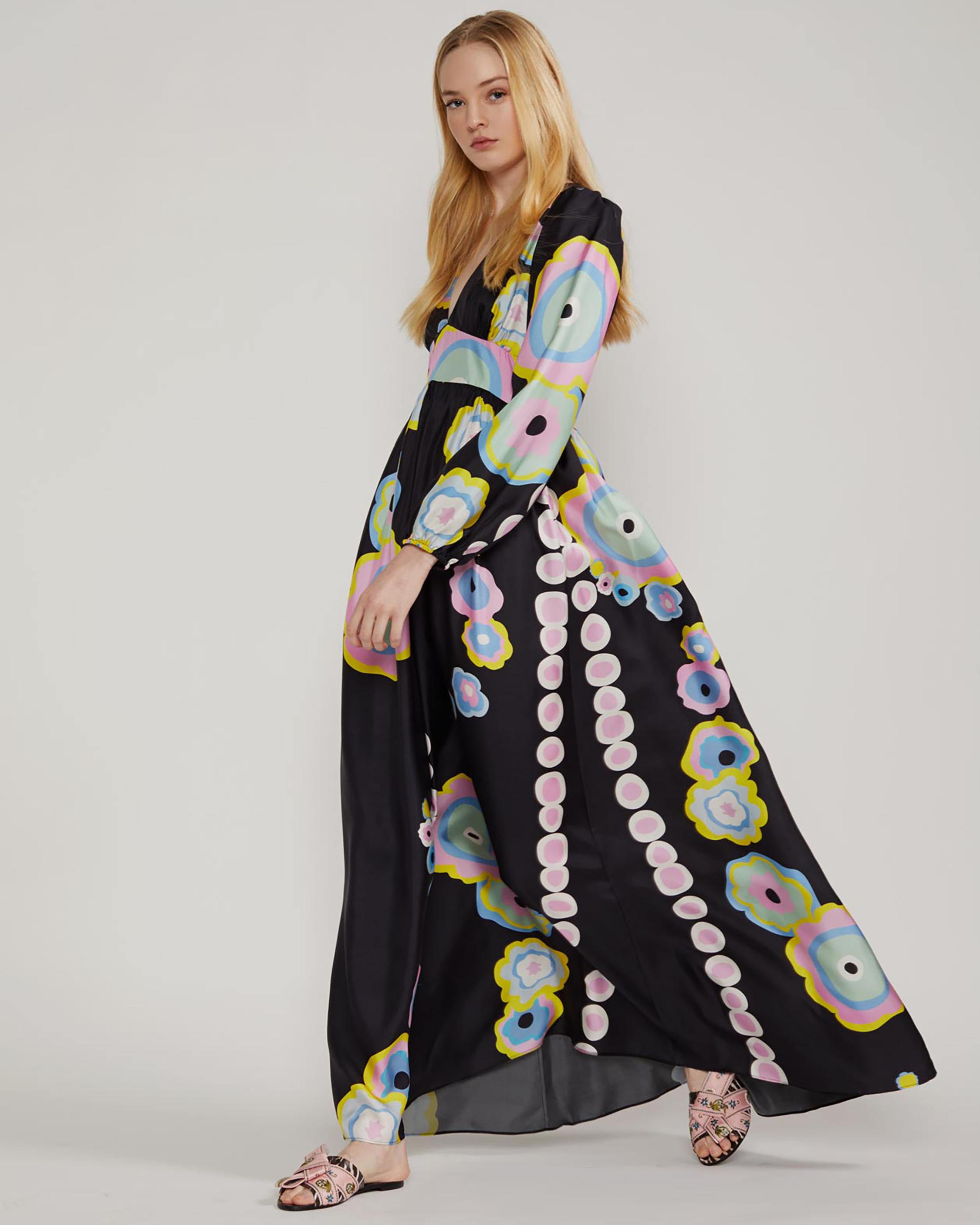 Cynthia Rowley Genevieve V Neck Maxi Dress 2