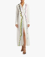 Cynthia Rowley Carson Embroidered Sheath Dress 0