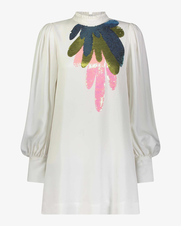 Cynthia Rowley Harper Embroidered Mini Dress 0