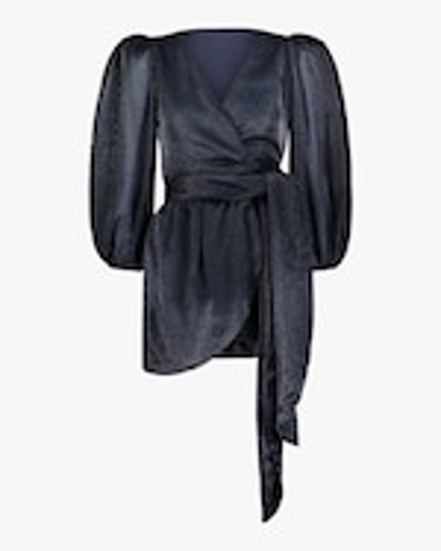 Cynthia Rowley Ariel Wrap Mini Dress 0