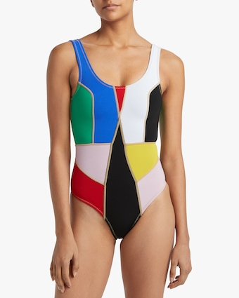 Cynthia Rowley Palmer Color Block One-Piece Swimsuit 2