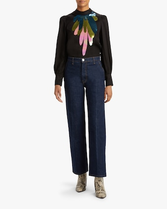Cynthia Rowley Candice Embroidered Top 2