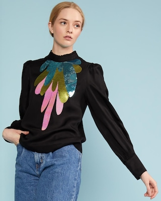 Cynthia Rowley Candice Embroidered Top 1