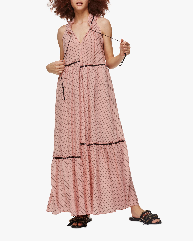 Checked Transparencies Sleeveless Dress