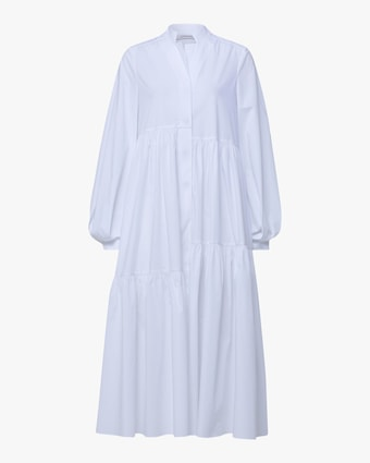 Poplin Power Peasant Dress
