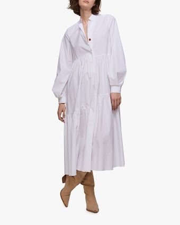 Poplin Power Peasant Dress