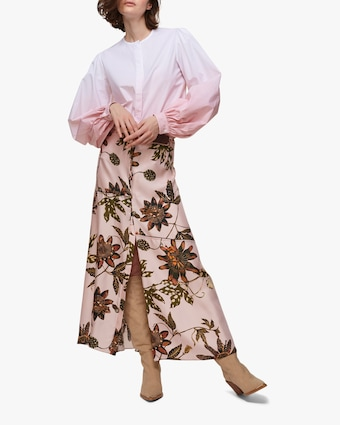 Powerful Floral Maxi Skirt