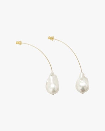 Lady Grey Baroque Pearl Drop Earrings 2