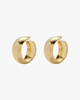 Dome Hoop Earrings