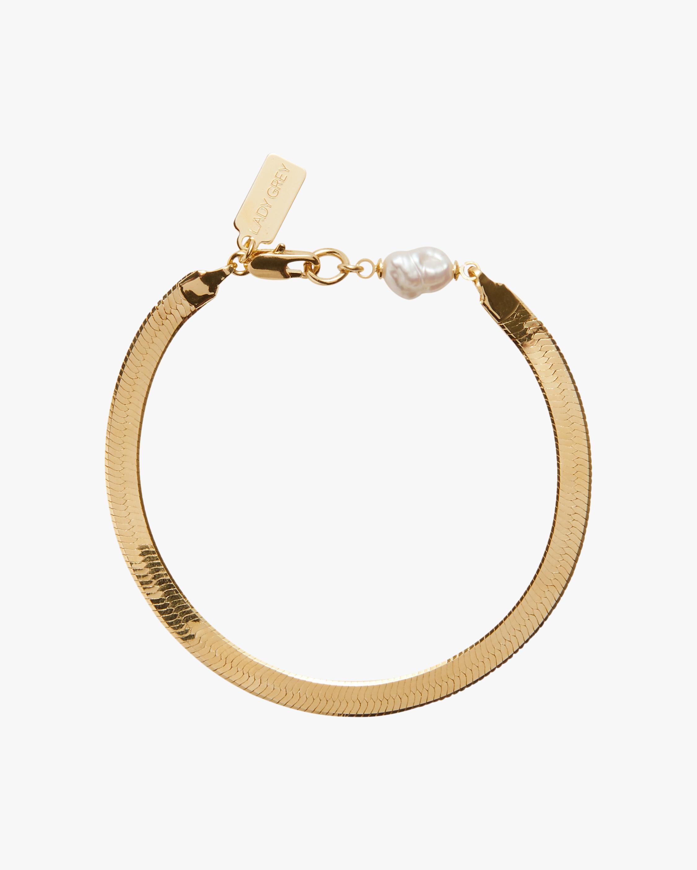 Pearl Herringbone Bracelet