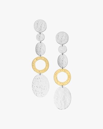 Chimera Classico Disc Linear Drop Earrings