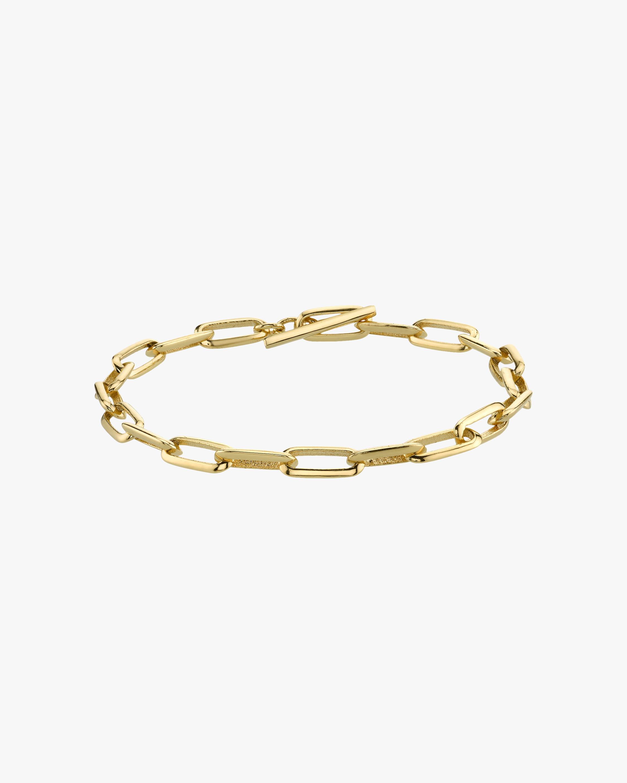 Knife Edge Oval-Link Chain Bracelet