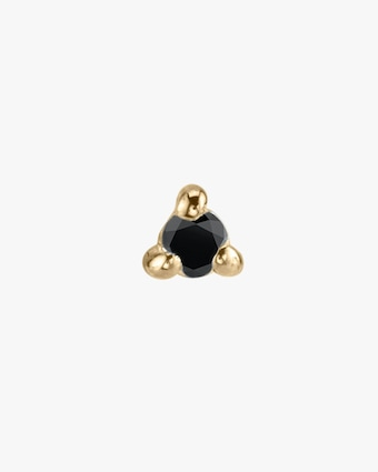 Lizzie Mandler Single Black Diamond Mini Stud Earring 1