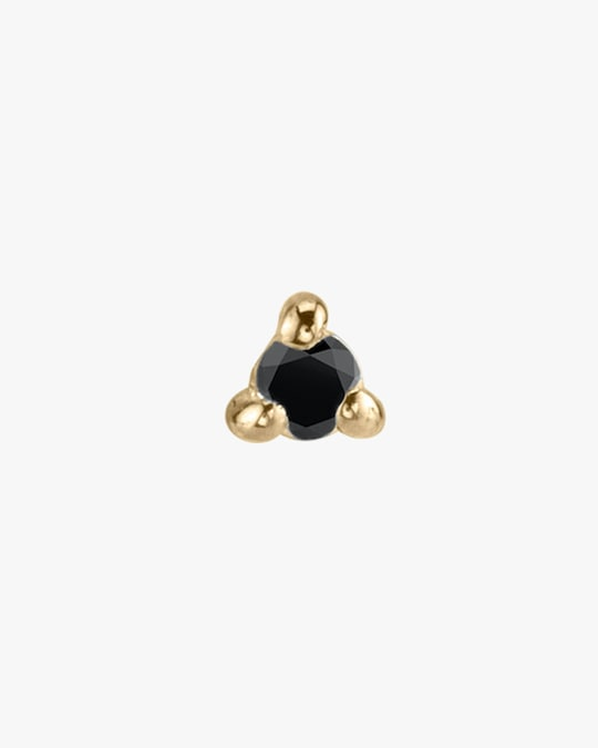 Lizzie Mandler Single Black Diamond Mini Stud Earring 0