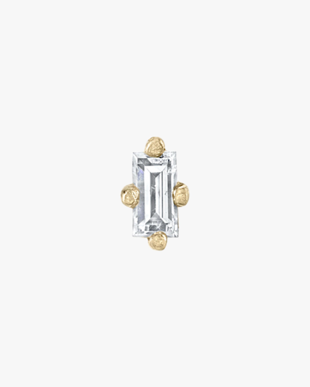 Lizzie Mandler Single Baguette Diamond Mini Stud Earring 1
