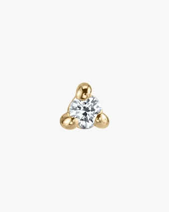 Lizzie Mandler Single White Diamond Mini Stud Earring 2