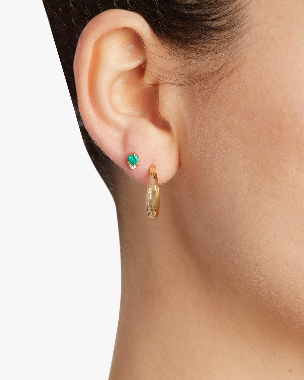 Lizzie Mandler Single Emerald Spike Stud Earring 2