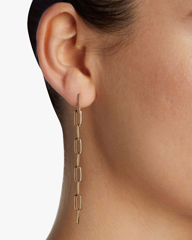 Knife Edge Pavé Drop Earrings