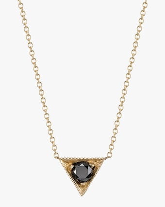 Lizzie Mandler Triangle Solitaire Pendant Necklace 1