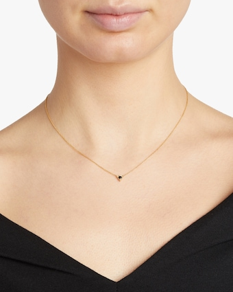Lizzie Mandler Triangle Solitaire Pendant Necklace 2