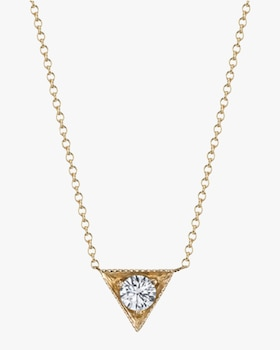 Triangle Solitaire Pendant Necklace