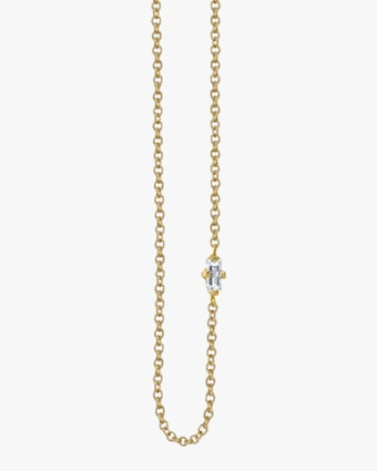 Lizzie Mandler Baguette Diamond Floating Necklace 2