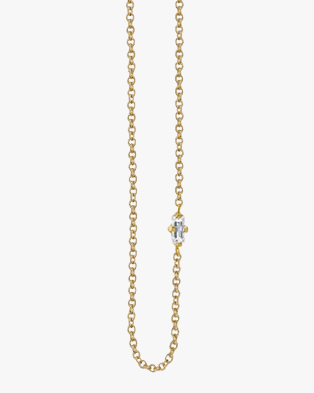 Lizzie Mandler Baguette Diamond Floating Necklace 2