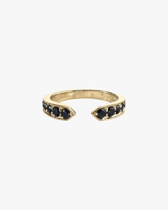 Lizzie Mandler Black Diamond Chevron Ring 0