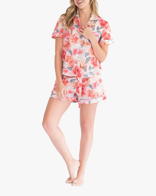 The Lazy Poet Nina Pajama Top & Shorts 0