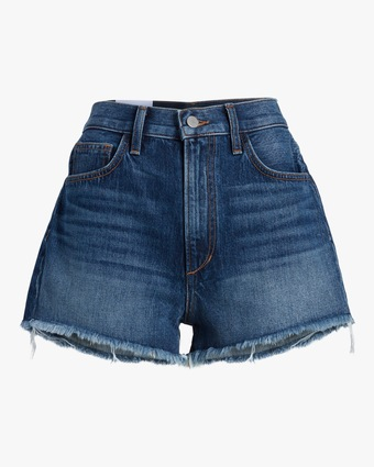 Frayed High-Rise Shorts