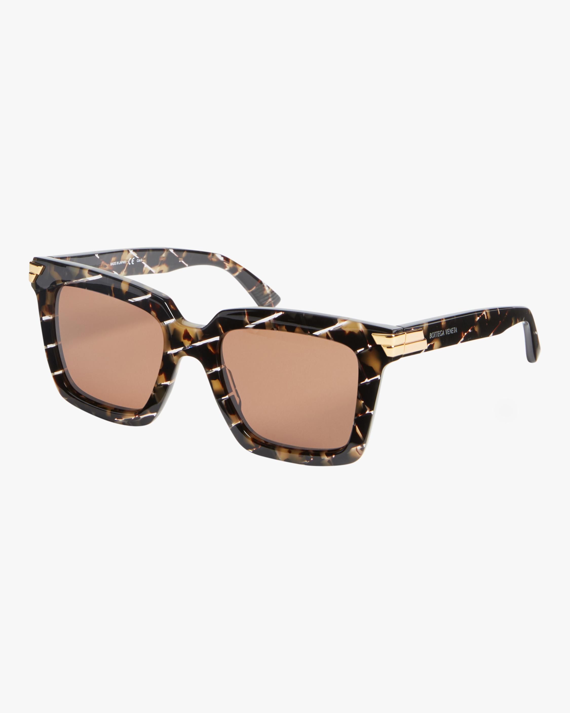 Bottega Veneta Intreccio Rectangle Sunglasses 1