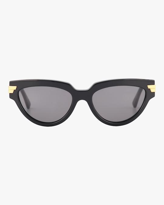 Bottega Veneta Shiny Oval Sunglasses 0