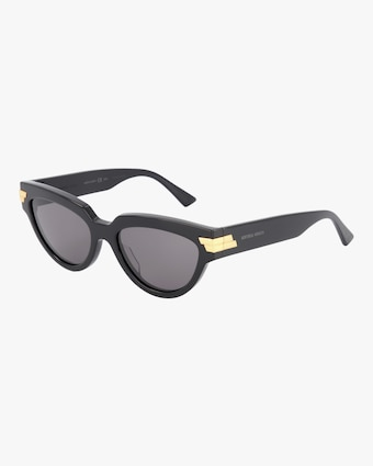 Bottega Veneta Shiny Oval Sunglasses 2