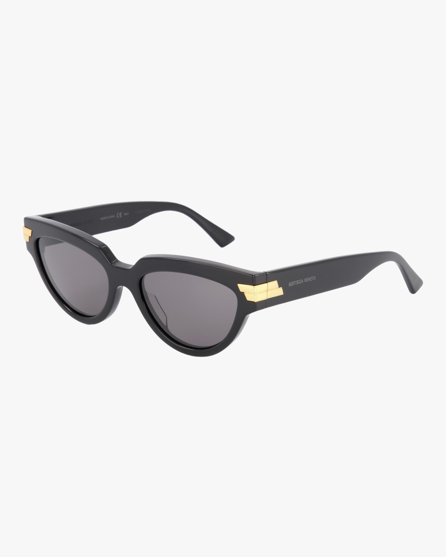 Bottega Veneta Shiny Oval Sunglasses 1