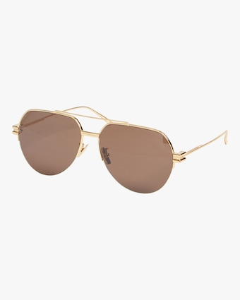 Navigator Geometric Aviator Sunglasses