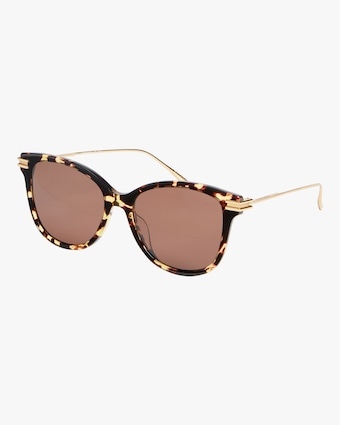 Shiny Spotted Round Sunglasses