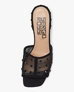 Sergio Rossi Embellished Sheer Slide 2