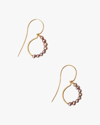 Pearl Loop Drop Earrings