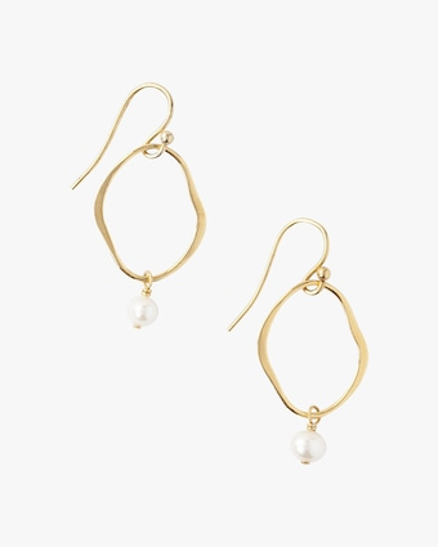 Chan Luu Open-Circle Pearl Drop Earrings 2