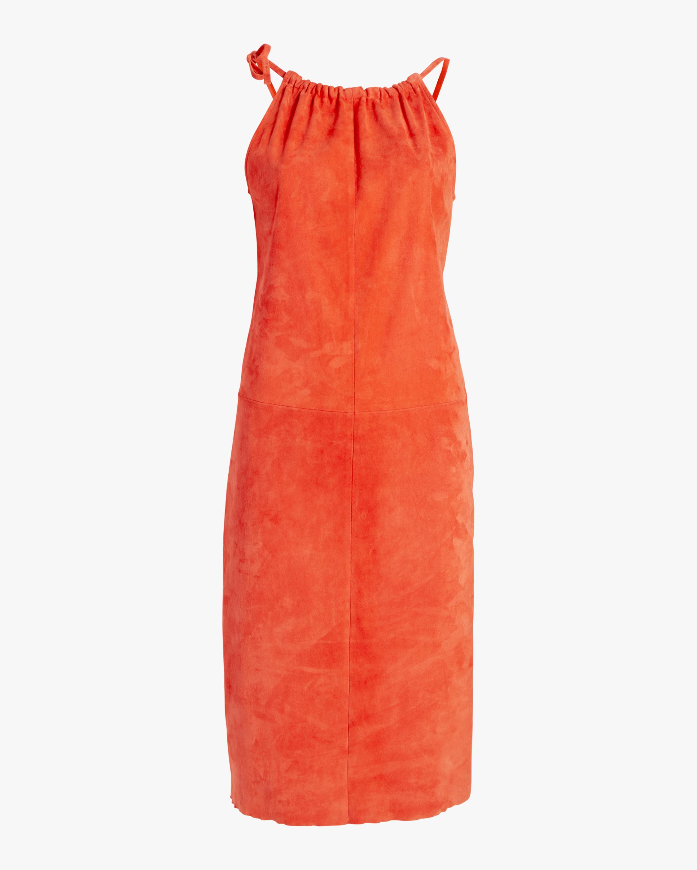 Stouls Edna Ruched-Neckline Midi Dress 0