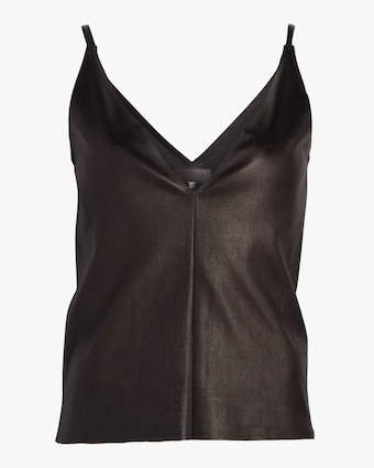 V-Neck Leather Tank