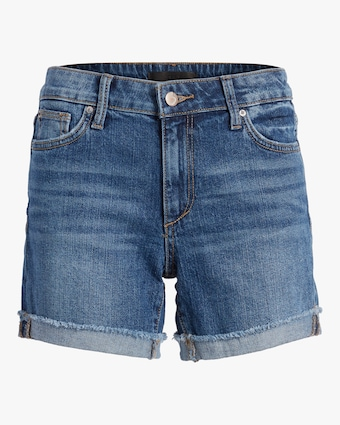 Bermuda Frayed-Cuff Shorts